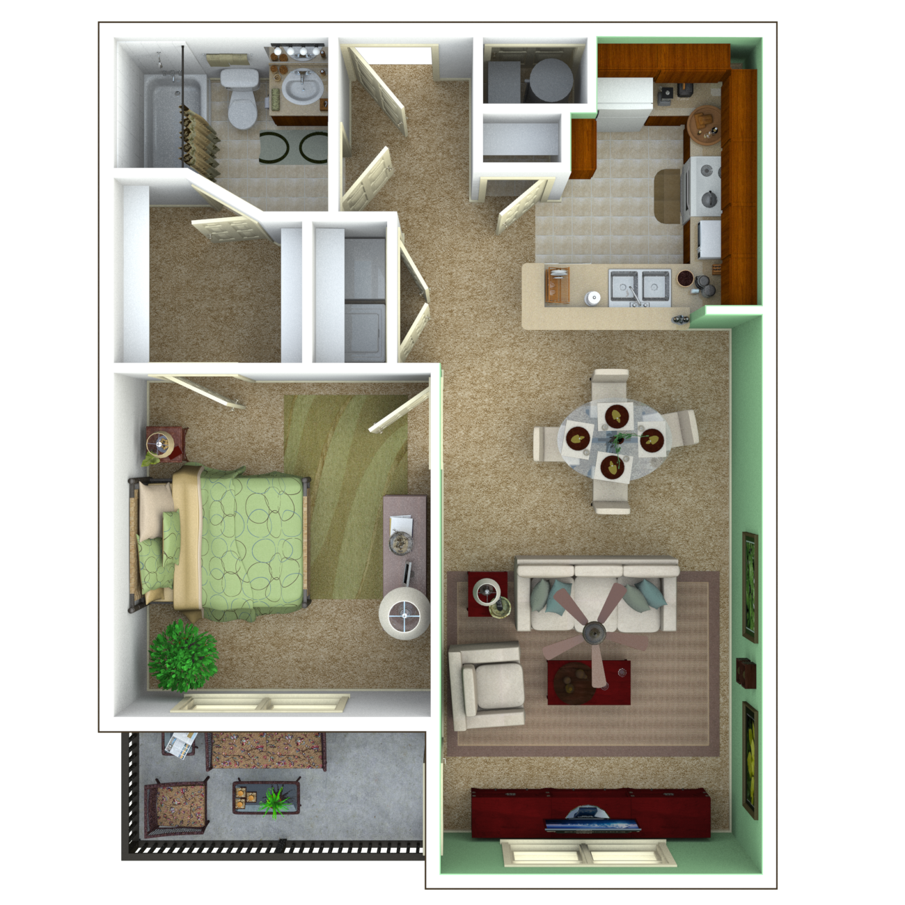 Senior apartments indianapolis floor plans for Apartment one bedroom design