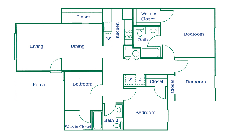 Columbus apartments floor plans for 4 floor apartment plan