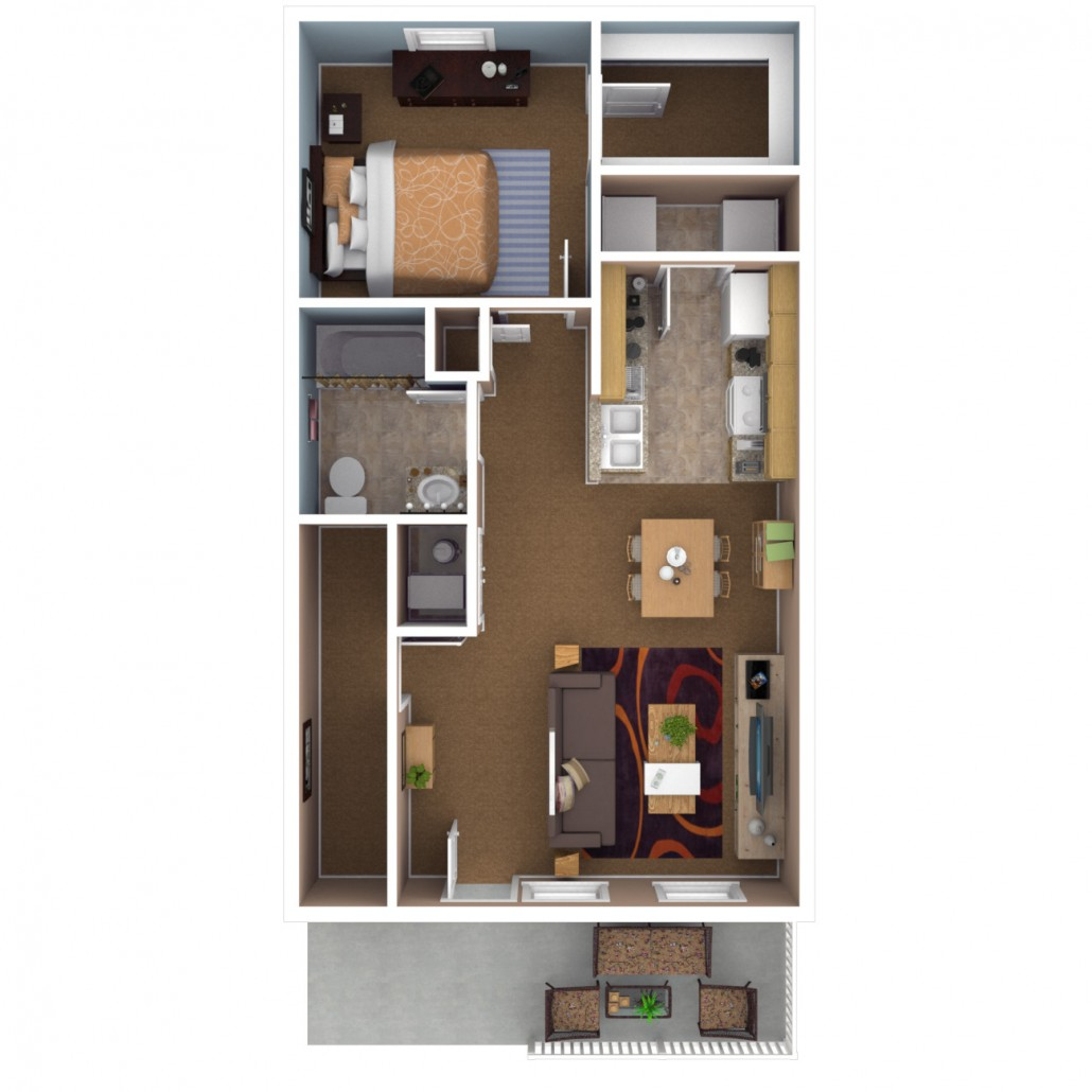 bedroom apartment floor plan