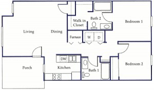 2 Bedroom Apartment Floor Plans