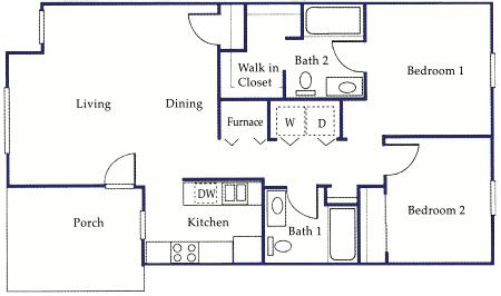 Monticello apartments floor plans for Canterbury floor plan
