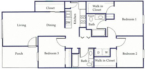 Monticello Apartments Floor Plans