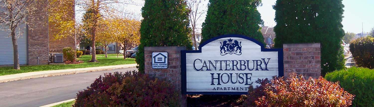 Canterbury House Apartments Street Sign