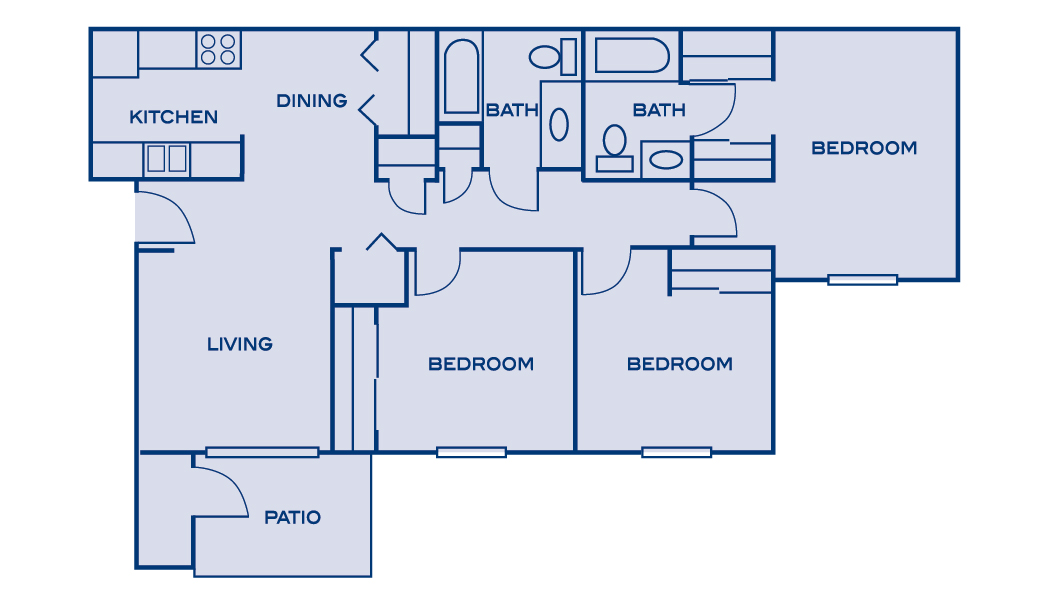 Tipton Apartments | Floor Plans