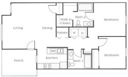 2 Bedroom Apartment Floor Plan