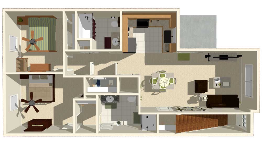 2 Bedroom Apartment. Apartments In Beaumont TX   Floor Plans   Rates