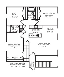 Two Bedroom Floor Plan (With Den)