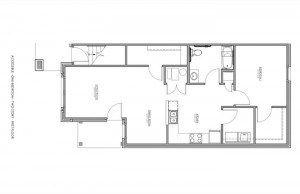 1 Bedroom Apartment Floor Plan (Accessible)