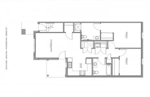 2 Bedroom Apartment Floor Plan (Accessible)