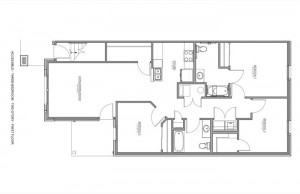 3 Bedroom Apartment Floor Plan (Accessible)