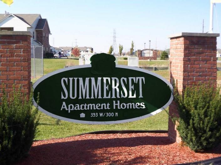 Apartment Street Sign
