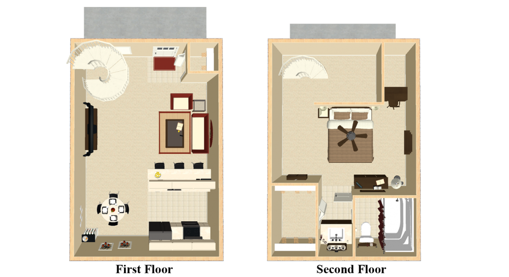 Apartments in indianapolis floor plans - Planning the studio apartment floor plans ...
