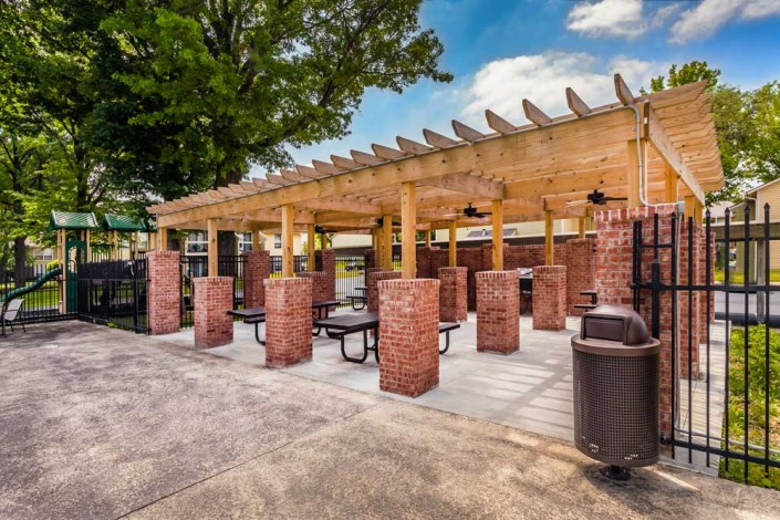 Community Pergola and Grilling Station