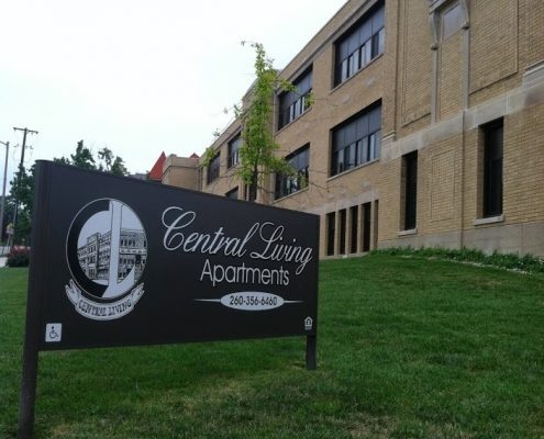 Central Living sign